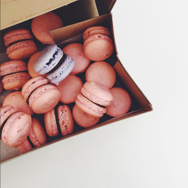Pink French Macarons With Ganache Filling