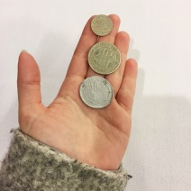 coins from the lodz ghetto (not part of the exhibit)